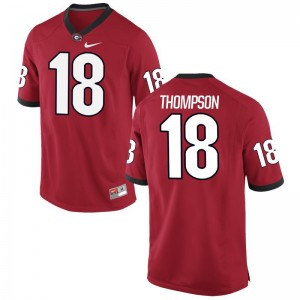 UGA Official Trenton Thompson Limited Jersey Red For Men