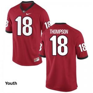 Georgia Bulldogs Trenton Thompson Jerseys X Large Red Youth(Kids) Limited
