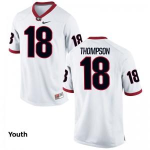 Limited Youth(Kids) Georgia Bulldogs Jersey Youth Medium Trenton Thompson - White
