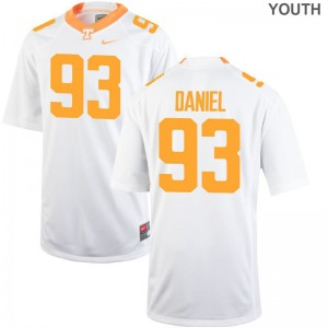 Tennessee Volunteers Jerseys XL of Trevor Daniel Limited Youth(Kids) - White
