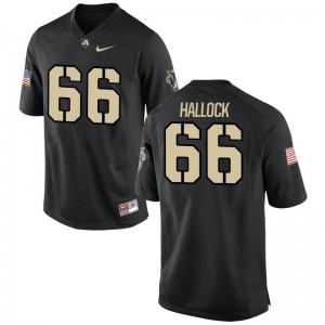 Trevor Hallock Jerseys Medium For Men United States Military Academy Limited - Black