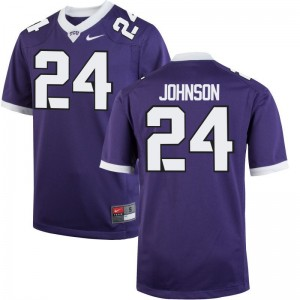 Trevorris Johnson TCU Jersey Youth Large Limited Youth Purple