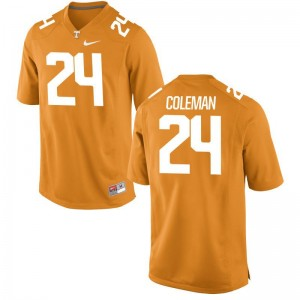Trey Coleman Men Jersey Large Limited UT - Orange