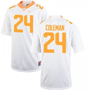 Trey Coleman Limited Jersey Men Stitched Tennessee Volunteers White Jersey