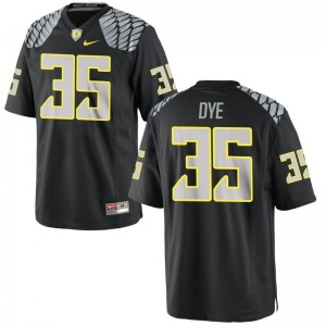 Oregon Ducks Jersey Large Troy Dye Limited For Men - Black