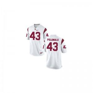 USC Troy Polamalu Limited Youth Jerseys Large - White