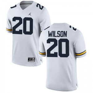 University of Michigan Tru Wilson For Men Limited Jordan White Stitched Jersey