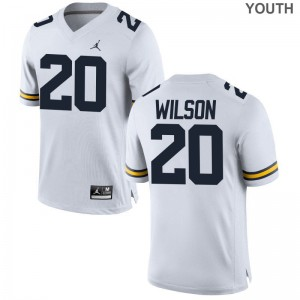 Tru Wilson Michigan Jersey S-XL Youth(Kids) Limited Jordan White