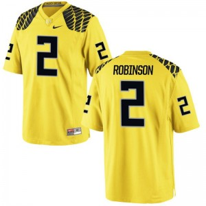Men Limited Oregon Jersey Tyree Robinson Gold Jersey