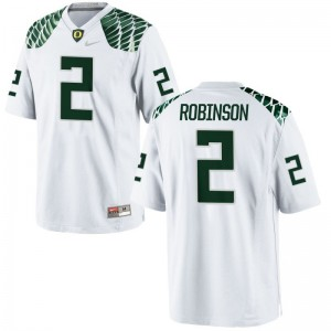 Oregon Tyree Robinson Jerseys Small Limited White For Men