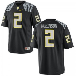 Oregon Tyree Robinson Youth(Kids) Limited Black Stitched Jersey