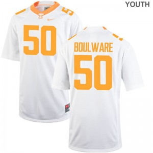Youth XL UT Venzell Boulware Jersey Kids Limited White Jersey