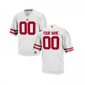 Wisconsin Custom Jerseys Youth Large Youth Limited - White