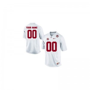 University of Alabama Customized Jerseys Small White 2013 BCS Patch Limited Youth