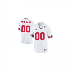Ohio State Customized Jerseys Youth Medium of Limited Youth - White 2015 Patch