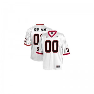 University of Georgia Custom Jersey Youth X Large Youth Limited White
