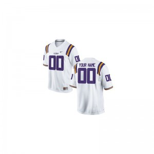 LSU Tigers Custom Jerseys Youth XL White For Kids Limited