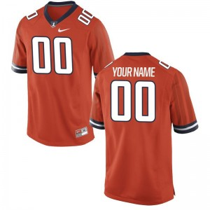 UIUC Customized Jerseys Medium For Kids Limited Orange
