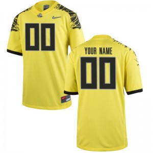 Kids Limited University of Oregon Custom Jersey Yellow Custom Jersey