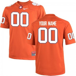 Kids Customized Jerseys S-XL CFP Champs Orange Team Color Limited