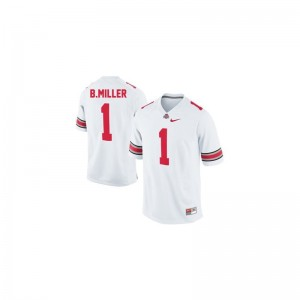 Ohio State Buckeyes Official Braxton Miller Limited Jerseys #1 White For Kids