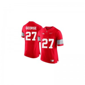 Eddie George Ohio State Buckeyes For Kids Jersey #27 Red Diamond Quest Patch Alumni Limited Jersey