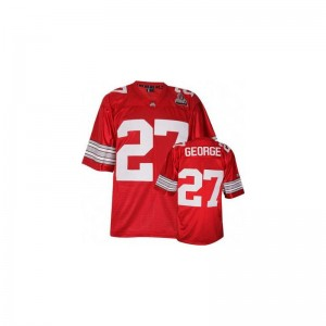 Eddie George Youth(Kids) Jerseys Youth Large Limited Ohio State - #27 Red