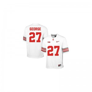 Ohio State Eddie George Jerseys S-XL Limited For Kids - #27 White Diamond Quest Patch
