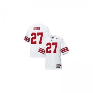 Ohio State Buckeyes For Kids #27 White Limited Eddie George Jersey Small