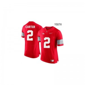 Ohio State Cris Carter Youth Limited Jerseys S-XL - #2 Red Diamond Quest Patch