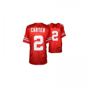 Ohio State Buckeyes Cris Carter Jerseys Youth Small Limited Youth(Kids) - #2 Red