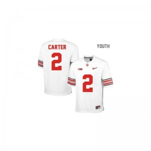 Cris Carter Jersey OSU Buckeyes #2 White Diamond Quest Patch Limited For Kids Jersey