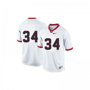 Georgia Herschel Walker Jersey XL Youth Limited #34 White