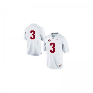 #3 White Trent Richardson Jerseys Youth Small Alabama Limited Youth(Kids)