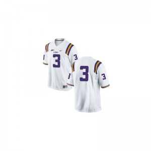 Kevin Faulk Limited Jersey Kids Official LSU #3 White Jersey