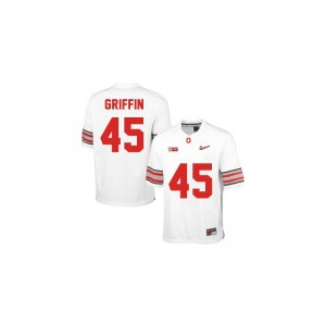 Archie Griffin Youth Jerseys Small Limited OSU Buckeyes - #45 White Diamond Quest Patch