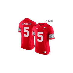 Ohio State Youth(Kids) Limited Braxton Miller Jerseys Youth Small - #5 Red Diamond Quest National Champions Patch