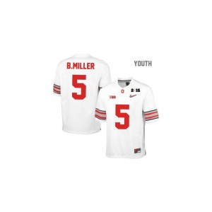 Ohio State For Kids Limited Braxton Miller Jersey XL - #5 White Diamond Quest National Champions Patch