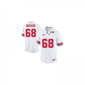 Taylor Decker Ohio State Jersey Youth XL Limited #68 White Diamond Quest 2015 Patch Youth(Kids)