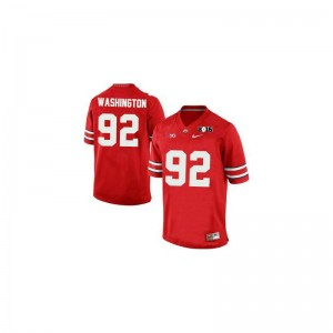 Youth Large OSU Buckeyes Adolphus Washington Jerseys Kids Limited #92 Red Diamond Quest 2015 Patch Jerseys
