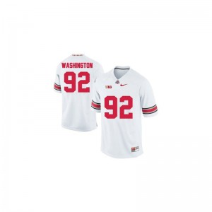 Adolphus Washington Youth #92 White Jerseys Large Ohio State Limited