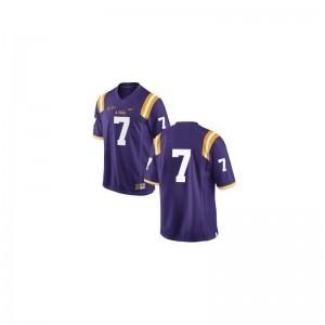 Louisiana State Tigers Bert Jones Jersey Youth XL Limited For Kids #Purple
