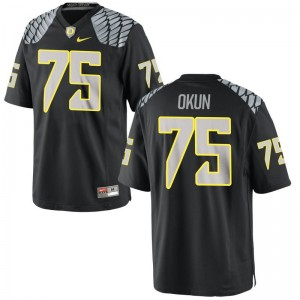 Oregon Ducks Zach Okun Jerseys Mens Medium Black Limited Mens