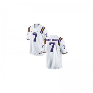 LSU Tyrann Mathieu Kids Limited High School Jerseys (Honey Badger) White